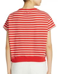 William Rast | Red Striped Pullover | Lyst