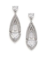 Adriana Orsini | Metallic Athena Marquis Drop Earrings | Lyst