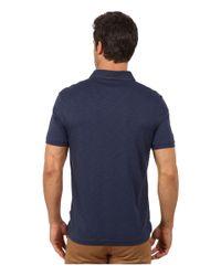 Calvin Klein   Blue Short Sleeve Slub Interlock Polo for Men   Lyst