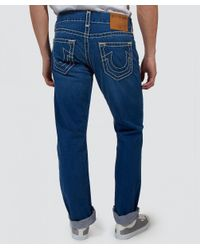 True Religion - Blue Relaxed Slim Fit Geno Super T Jeans for Men - Lyst
