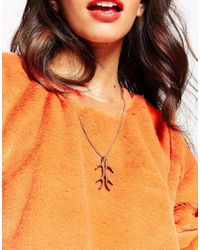 Tatty Devine | Brown Antlers Necklace | Lyst