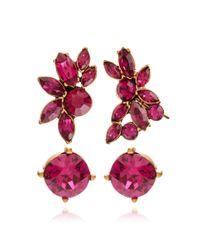 Oscar de la Renta - Navette Crystal Ear Cuff In Pink - Lyst