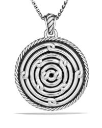David Yurman | Metallic Labyrinth Large Disc Pendant | Lyst