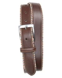 Paul Smith | Brown Stripe Trim Leather Belt for Men | Lyst