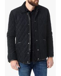 7 For All Mankind - Blue Quilted Barn Jacket In Navy for Men - Lyst