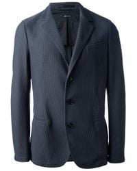 Giorgio Armani | Blue Piqué Blazer for Men | Lyst