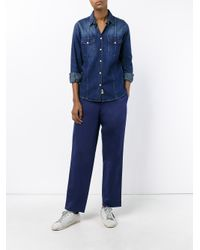 Golden Goose Deluxe Brand - Natural Cotton-twill Wide-leg Trousers - Lyst