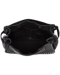 Frye - Black Nikki Nail Head Flap Crossbody - Lyst