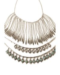 Forever 21 | Metallic Mixed Pendant Necklace Set | Lyst