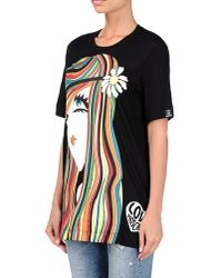 Love Moschino - Black Short Sleeve T-shirts - Lyst