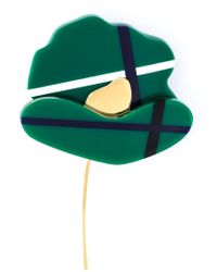 Marni | Green Flower Brooch | Lyst