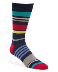 Paul Smith - Blue Multi Stripe Socks for Men - Lyst
