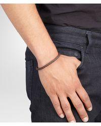 Bottega Veneta - Black Nero Intrecciato Oxydized Silver Nappa Bracelet for Men - Lyst