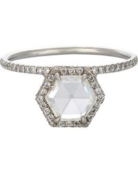Mp Mineraux | Metallic Hexagonal Diamond Ring | Lyst