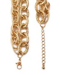 Forever 21 - Metallic Etched Layered Chain Necklace - Lyst