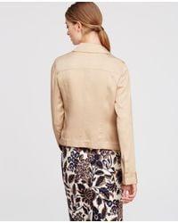 Ann Taylor | Natural Soft Twill Jacket | Lyst