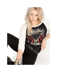 Denim & Supply Ralph Lauren - Black Raglan Graphic Shirt - Lyst
