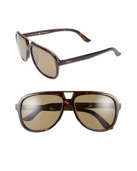 Ferragamo | Brown 57mm Aviator Sunglasses for Men | Lyst