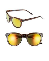 Steve Madden | Brown 51mm Metal Brow Bar Sunglasses | Lyst