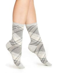 Ralph Lauren | Gray Lauren Plaid Crew Socks | Lyst
