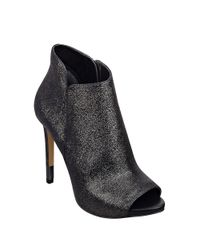 Guess | Metallic Adara Leather Peep Toe Ankle Boots | Lyst