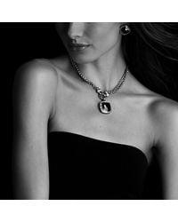 David Yurman | Metallic Albion Earrings With Diamonds, 11mm Gemstone | Lyst
