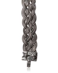 Emanuele Bicocchi | Metallic Braided Sterling Silver Bracelet for Men | Lyst