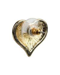 Guess - Metallic Gone Wild Leopard Heart Stud Earrings - Lyst