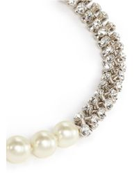 Kenneth Jay Lane | Natural Hourglass Crystal Pearl Necklace | Lyst