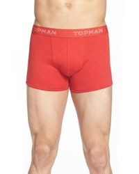 TOPMAN - Red Bright Colors Jersey Boxer Briefs, (3-pack) for Men - Lyst