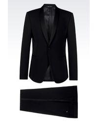 Emporio Armani | Black Tuxedo In Wool Crêpe for Men | Lyst