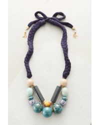 Anthropologie | Blue Ambrine Bib Necklace | Lyst
