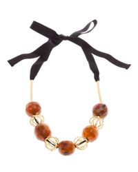 Marni - Orange Ribbon-tie Necklace - Lyst