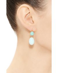 Renee Lewis | Blue One Of A Kind Circular Turquoise Earrings | Lyst