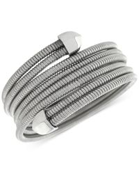 BCBGeneration | Metallic Coil Stretch Wrap Bracelet | Lyst