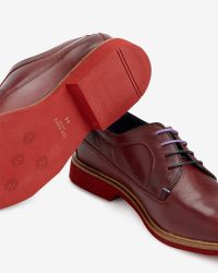 Ted Baker   Red Classic Leather Derby Shoe for Men   Lyst