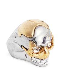 Alexander McQueen | Metallic Puzzle Skull Ring | Lyst