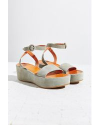 Urban Outfitters - Green Paige Platform Sandal - Lyst