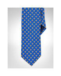 Polo Ralph Lauren - Yellow Silk Foulard Narrow Tie for Men - Lyst