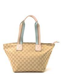 c2ed2d52e9a Lyst - Gucci Beige Tote Bag in Natural