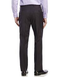 BOSS - Black Printed Flat Front Wool Dress Pants for Men - Lyst