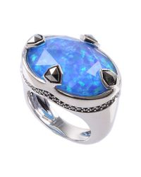 Judith Jack - Sterling Silver Blue Opal Ring - Lyst