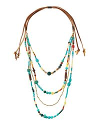 Nakamol - Multicolor Beaded Multi-strand Tie Necklace - Lyst