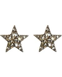Annoushka - Brown Love Diamonds 18ct Rose-gold And Diamond Star Earrings - Lyst