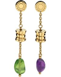 BVLGARI - B.Zero1 Mini 18Ct Yellow-Gold Pendant Earrings - For Women - Lyst