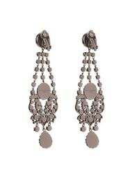 Givenchy | Black Victorian-Style Chandelier Earrings | Lyst