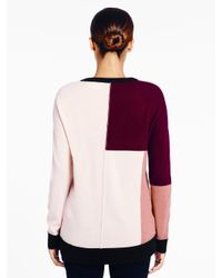 Kate Spade | Multicolor Colorblock Slouchy Sweater | Lyst