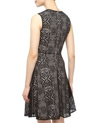 Marc New York - Scalloped Lace Fitandflare Dress Black 6 - Lyst