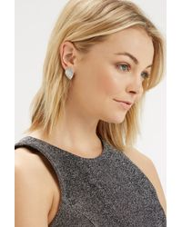 Oasis - White Limited Edition Pave Encrusted Studs - Lyst