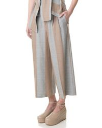 Tibi | Gray Horizon Stripe Edie Culottes | Lyst